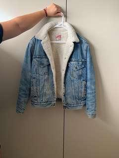 Levi's vintage denim wool jacket