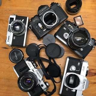 Canon stuff AE-1 FT FTb ql17 F-1