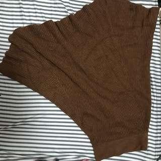 棕色針織半身裙