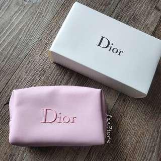 Authentic Dior Pink Zip Makeup Pouch