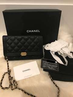 Chanel Caviar Boy WOC