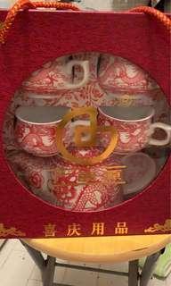 結婚 茶杯 茶壺 套裝