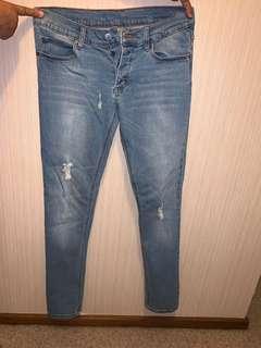 Ripped Denim cheap Monday jeans