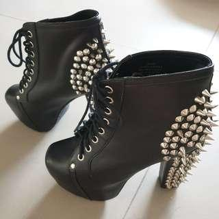 Jeffrey Campbell Leather Boots With Spikes In Box size us6