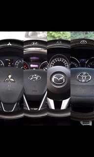 BN Logos Steering Wheel Cover
