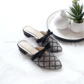 Cellene - Lace Mules Heeled Shoes