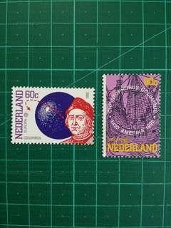 [均一價$10]1992 荷蘭 哥倫布發現美洲大陸500週年紀念 新票一套