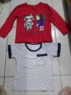 baju anak merah import
