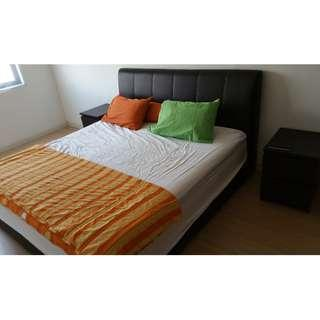 King size bed + mattress (australian brand with warranty)