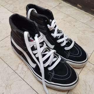 Vans Old Skool Sk8 Hi Black Authentic