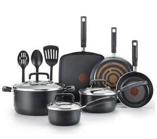 🚚 #FREE DELIVERY❤️T-fal signature 12Pc cookware set❤️ brand new - Ready stock