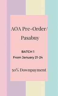 AOA Pre-order. PASABUYS ❤️ 50% downpayment