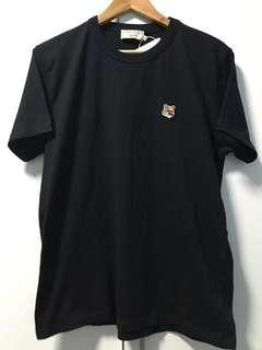 Maison Kitsune - Fox Patch Tee (Black) [BNWT]
