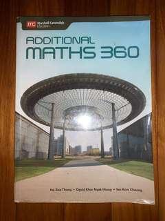 IGCSE/O level Additional Mathematics 360 textbook