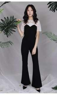 Ohvola Renee Structured Jumpsuit Black