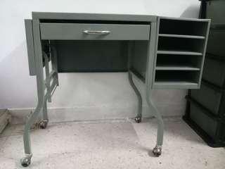 Vintage Metal Typist Table