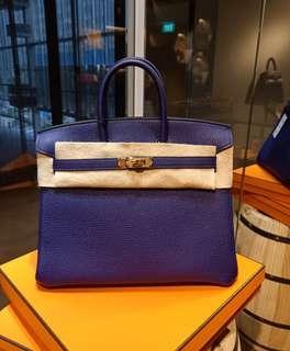 New B25 Bleu Encre Togo Ghw (C)... Copy receipt