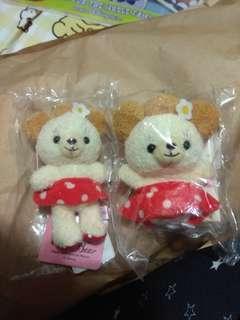 購自日本 Tokyo Disney 罕有 絕版 Minnie & Cuddy Bear 手指偶 小公仔 吊飾匙扣