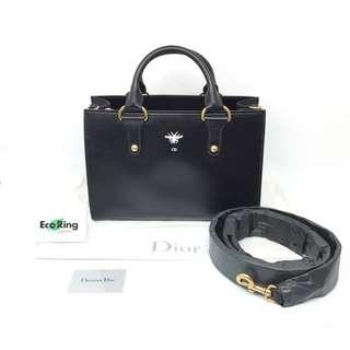 Christian Dior 迪奧 D-Bee handbag 2way calfskin black 黑色 牛皮 兩用包 手袋 03188337 100%真品