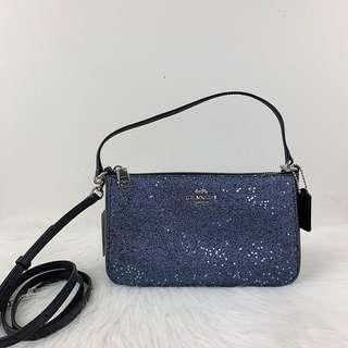 Coach Top Handle Pouch With Star Glitter