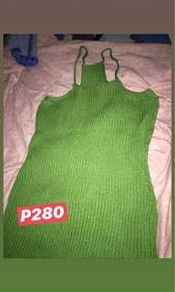 Body con Fitted Green