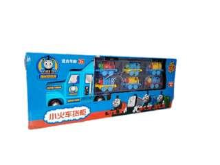 Thomas and Friends suitcase truck carry with 6 small vehicles