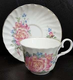 Royal Stuart Fine Bone China Pink Rose Cup & Saucer