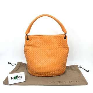 Bottega Veneta 寶緹嘉 Bucket Hobo Bag Intrecciato Nappa leather orange 橙色 Nappa高級皮革 水桶包 手袋 100%真品