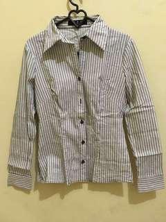 #kemejalama Stripe Long Shirt