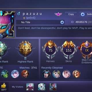 MOBILE LEGENDS Acc For Sale!!
