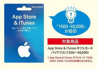 Japanese iTunes Card + 10% Bonus Values (limited time offer)