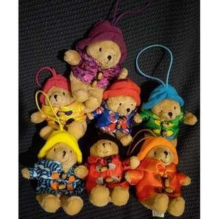 伯靈頓寶寶熊 吊飾 絨毛玩偶 磁鐵