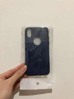 IPHONE X RUBBER CASE NAVY