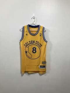 🚚 Adidas NBA Monta Ellis 黃地圖 勇士隊 球衣 黃襪