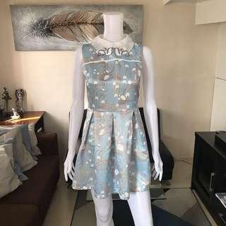 Blue swan dress S