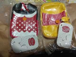 購自日本 東京迪士尼 Tokyo Disney 米妮 Minnie 小熊維尼 Winnie the Pooh 收納袋仔