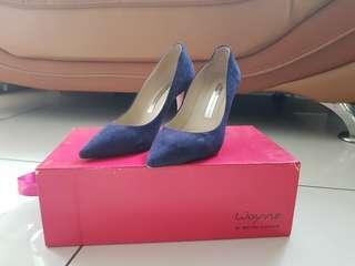 Blue Wayne Cooper velvet heels