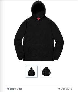 Authentic Supreme Quilted hooded sweatshirt - Black