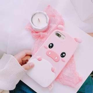 PO: IPHONE Pinky Pig Phone Case #A003