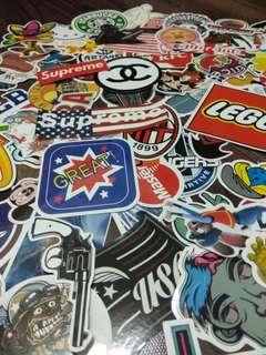 Assorted vinyl stickers