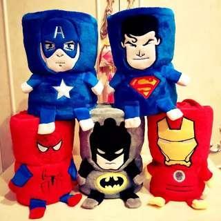 Little Avengers Travel Blanket - 4R1  Size: 80*100cm