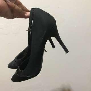 Black Heels - New Look
