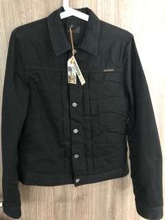 Nudie jeans sonny crinkle black denim jacket XS