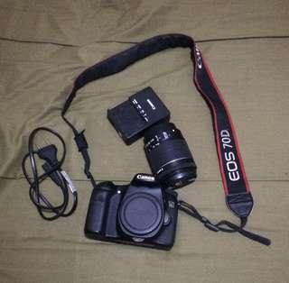 Dijual kamera canon 70D kondisi mulus 95% wifi