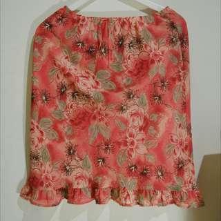 Flowers skirt - rok bunga