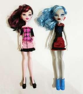 2 Barbie Monster High Mattel Authentic Asli
