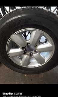 TOYOTA FORTUNER SPARE TIRE 2008