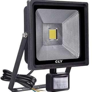 CLY 50W Motion Sensor Flood Lights Outdoor Security Floodlight PIR Flood Lights Waterproof IP66 Motion Detector Lights Cool White 6000K 4500 Lumens ----- 1140