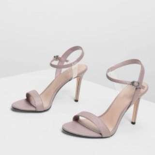charles & keith nude heeled sandals