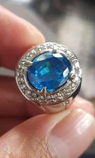Perhiasan Cincin blue topaz mewah elegant